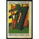 Hartwig & Vogel Diana-Caramels (Zwerg, Eichhörnchen, Tafel)