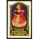 Noris Schokolade Carl Bierhals Nürnberg (Mädchen mit Herz)