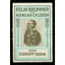 Dürkopp Diana Felix Brunner König der Cyclisten (bleu/noir)