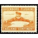 Queenboro - Flushing England - Kontinent (orange)