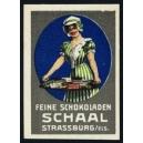 Schaal Feine Schokoladen Strassburg (Frau mit Tablett)