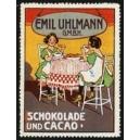 Uhlmann Schokolade und Cacao (2 Mädchen am Tisch)