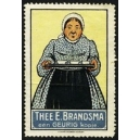 Brandsma Thee (Frau mit Tablett - blau)