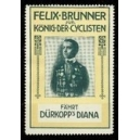 Dürkopp Diana Felix Brunner König der Cyclisten (gelb/grün)