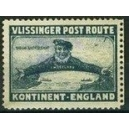 Vlissinger Post Route Kontinent - England (graublau)