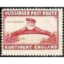 Vlissinger Post Route Kontinent - England (rot)