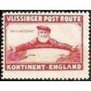 Vlissinger Post Route Kontinent - England (rot)