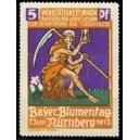 Nürnberg 1913 Bayr. Blumentag ... (Der Tod / Sensenmann)