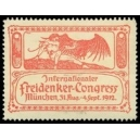 München 1912 Internationaler Freidenker-Congress (rot)