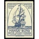 München 1912 I. Bayer. Hansa Tag ... (blauschwarz)