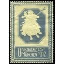 München 1912 Oktoberfest (Schweinreiter - graublau)