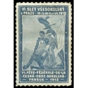 Prague 1912 VI. Fête Fédérale Ceska Obec Sokolska (dunkelblau)