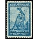 Prague 1912 VI. Fête Fédérale Ceska Obec Sokolska (hellblau)
