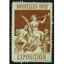 Bruxelles 1897 Exposition (Trompeterin - braun türkiser Rand)