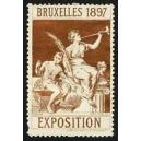 Bruxelles 1897 Exposition (Trompeterin - braun weisser Rand)