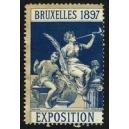 Bruxelles 1897 Exposition (Trompeterin - dunkelblau grauer Rand)
