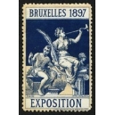 Bruxelles 1897 Exposition (Trompeterin - dunkelblau rosa Rand)
