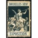 Bruxelles 1897 Exposition (Trompeterin - dunkelgrün rosa Rand)
