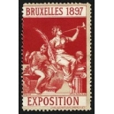 Bruxelles 1897 Exposition (Trompeterin - dunkelrot grauer Rand)