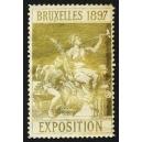 Bruxelles 1897 Exposition (Trompeterin - gold weisser Rand)