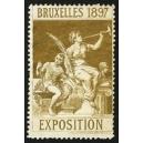 Bruxelles 1897 Exposition (Trompeterin - goldbraun Rand weiss)