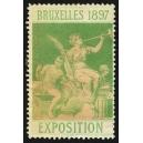 Bruxelles 1897 Exposition (Trompeterin - grün weisser Rand)