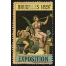 Bruxelles 1897 Exposition (Trompeterin - mehrfarbig rosa Rand)
