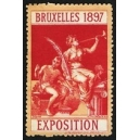 Bruxelles 1897 Exposition (Trompeterin - rot rosa Rand)