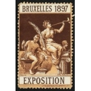 Bruxelles 1897 Exposition (Trompeterin - rotbraun rosa Rand)