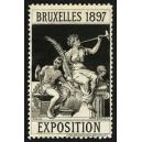 Bruxelles 1897 Exposition (Trompeterin - schwarz Rand weiss)