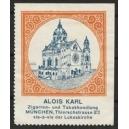 Karl Zigarren- und Tabakhandlung München (orange)