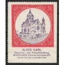 Karl Zigarren- und Tabakhandlung München (rot)