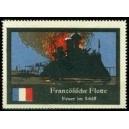 Französische Flotte Feuer im Schiff