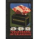 Volksbank Interlaken Heimsparbüchse (WK 01)