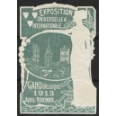 Gand 1913 Exposition Universelle ... (Frau - graublau)