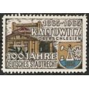 Kattowitz Oberschlesien 100 Jahre Deutsches Stadtrecht 1965