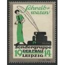 Leipzig 1914 Sondergruppe der Frau Schreibwesen