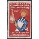 Germania Weinessig ... (Frau - rot)