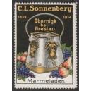 Sonnenberg Marmeladen Obernigk bei Breslau (WK 01)