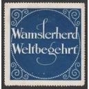Wamslerherd Weltbegehrt (blau)