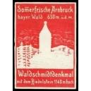 Arnbruck Waldschmidtdenkmal mit dem Riedelstein (rot)