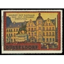 Düsseldorf Markt mit Rathaus und Jan Wellem Denkmal