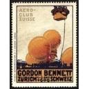 Zürich 1909 Gordon Bennett Aero-Club Suisse ,,,