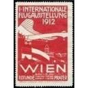 Wien 1912 1. Internationale Flugausstellung (rot)