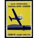 Genève 1934 Salon Aviation Sport Tourisme