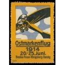 Ostmarkenflug 1914 Breslau Posen Königsberg Danzig (gelb)