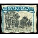 Hyères Les Palmiers (Var) Avenue des Palmiers, Côte d'Azur