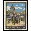 Karlsbad Marktbrunn mit Stadtturm
