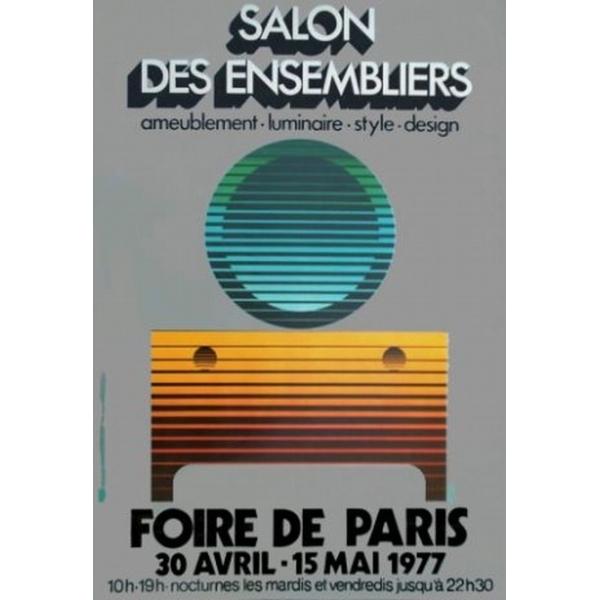 Paris 1977 foire de paris salon des ensembliers 40x60 - Salon de jardin foire de paris ...
