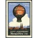Gerner Bräu München Luft - Schiffahrt Montgolfière 1783
